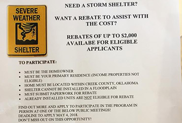 FEMA Storm Shelter Rebates