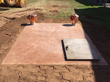 Flat Top Concrete Storm Shelters